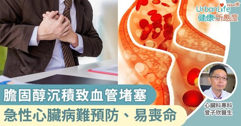 【心臟病成因】膽固醇沉積致血管堵塞 心臟科專科醫生:急性心臟病難預防、易喪命