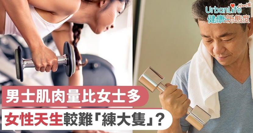 【增肌方法】男士肌肉量比女士多 女性天生較難「練大隻」?