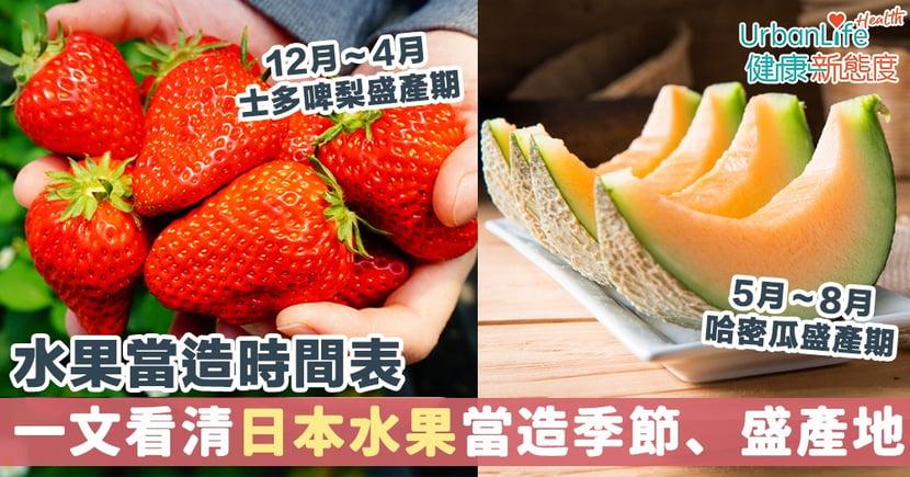 【日本水果當造時間表2021】一文看清11種日本水果當造季節、盛產地、品種