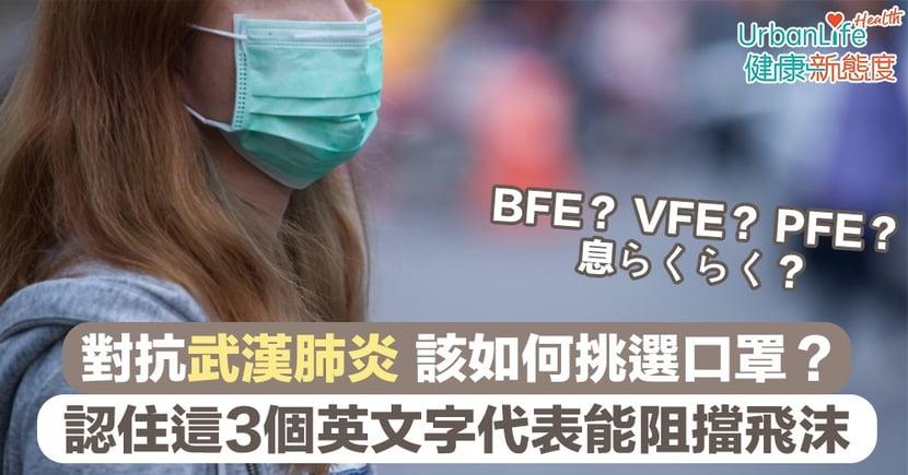 【日本口罩】對抗武漢肺炎 該如何挑選口罩?認住3個英文字代表能阻擋飛沫