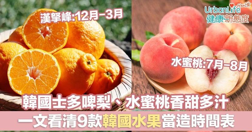 【韓國時令水果】韓國士多啤梨、水蜜桃香甜多汁 一文看清9款韓國水果當造時間表