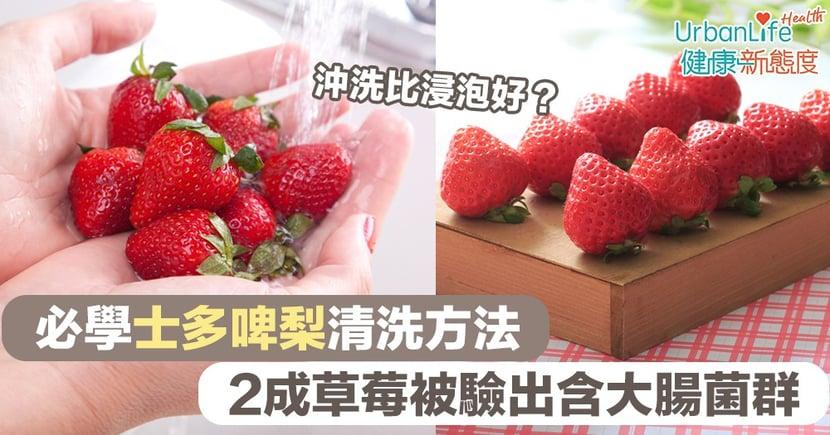 【士多啤梨清洗】2成草莓被驗出含大腸菌群 必學士多啤梨清洗方法