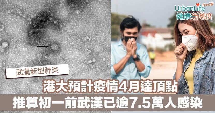 【武漢肺炎】港大團隊推算初一前武漢已逾7.5萬人感染新型冠狀病毒 預計疫情4月達頂點