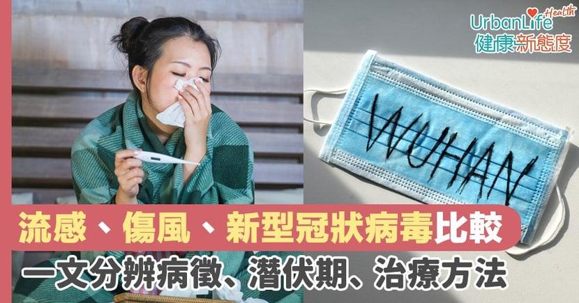 【新冠肺炎症狀】流感、傷風、新型冠狀病毒比較  一文分辨患病徵狀