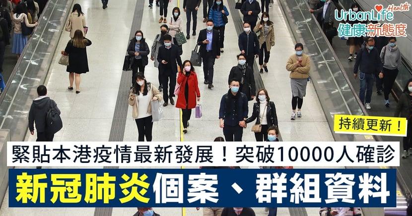 【新冠肺炎香港確診人數】本地最新確診數字 一文看清個案/群組資料、居住地點、曾到訪餐廳|持續更新
