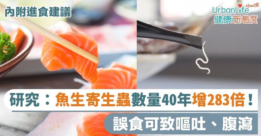 【魚生有蟲】研究:魚生寄生蟲數量過去40年增283倍!誤食可致嘔吐、腹瀉(內附進食建議)
