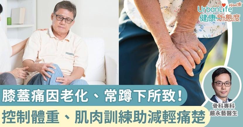 【膝蓋痛運動】老化、常蹲下負重所致!專科醫生:減輕痛楚從控制體重、肌肉訓練入手
