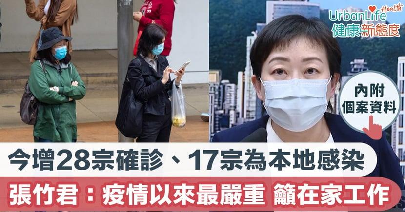【新型肺炎|7.11香港確診個案】今增28宗確診17宗本地 另有33宗初步確診 張竹君:現時是有疫情以來最嚴重