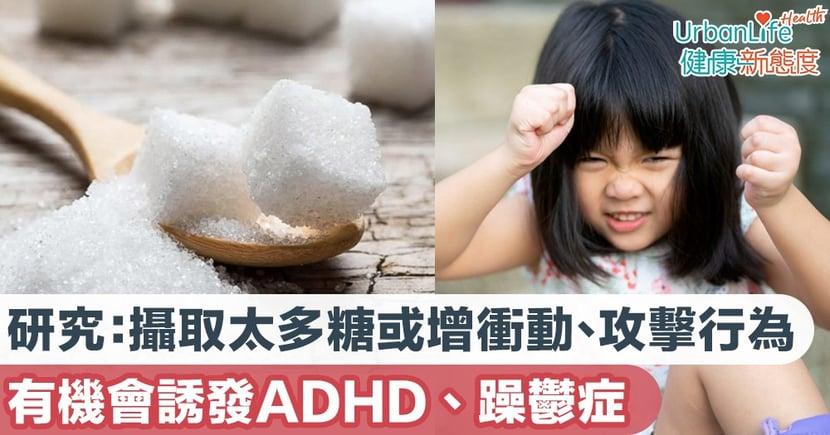 【ADHD成因】研究:攝取太多糖或會增加衝動、攻擊行為 有機會誘發ADHD、躁鬱症