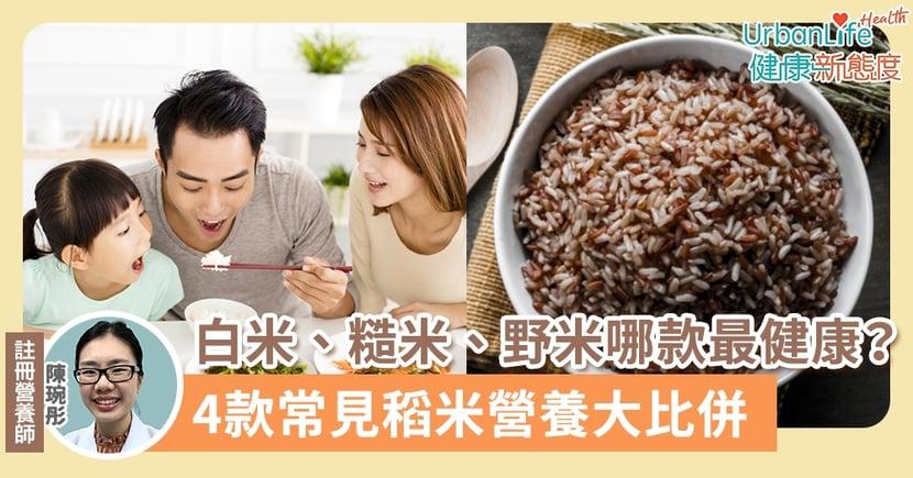 【稻米種類】白米、糙米、野米、紅米哪款最健康?4款常見稻米營養大比併