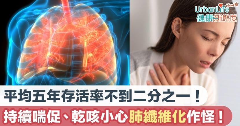 【肺纖維化症狀】平均五年存活率不到二分之一!持續喘促、乾咳小心是肺纖維化作怪!