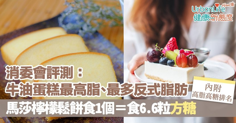 【消委會蛋糕檢測】牛油蛋糕最高脂、最多反式脂肪 馬莎檸檬鬆餅食1個=食6.6粒方糖