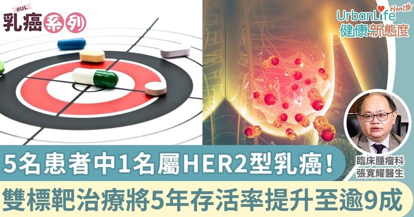 【乳癌治療】每5名患者中1名屬HER2型乳癌!雙標靶治療可將5年存活率提升至逾9成