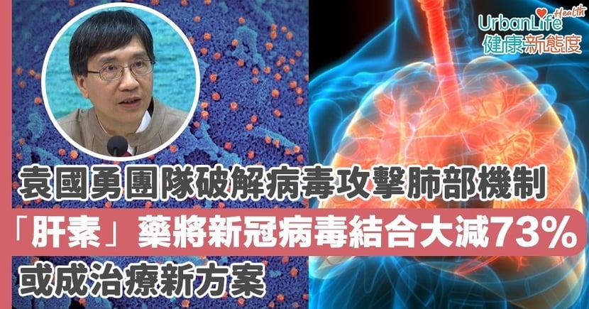 【新型肺炎】袁國勇團隊破解新冠病毒攻擊肺部機制 「肝素」藥將新冠病毒結合大減73%或成治療新方案