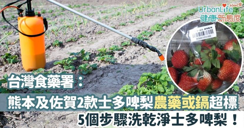 【食物安全】台灣驗出熊本及佐賀2款士多啤梨農藥或鎘超標 5個步驟就能洗乾淨士多啤梨!