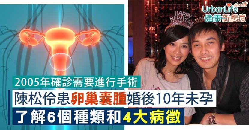 【卵巢囊腫症狀】陳松伶患卵巢囊腫婚後10年未孕 了解6個種類和4大病徵