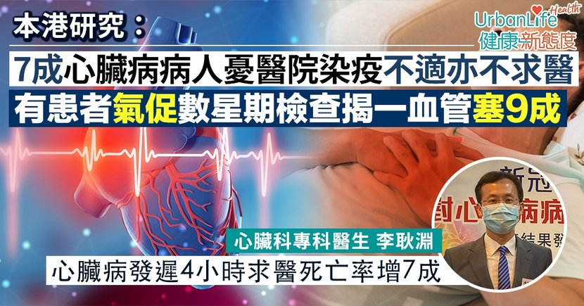 【心肌梗塞症狀】7成心臟病病人憂染疫不求醫 醫生警告延誤治療4小時死亡率大增7成