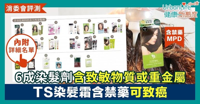 【消委會染髮劑測試】26款中6成樣本含致敏物質或重金屬 韓國TS染髮霜含禁藥可致癌