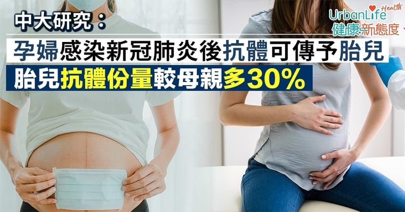 【新型肺炎抗體】中大證孕婦感染後抗體可傳予胎兒 胎兒抗體份量較母親多30%