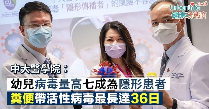 【新型肺炎傳播】中大:幼兒病毒量高七成為隱形患者 糞便帶活性病毒最長達36日
