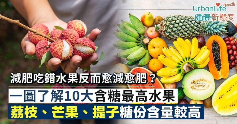 【水果糖份】減肥吃錯水果反而愈減愈肥?10大含糖最高水果荔枝排第一