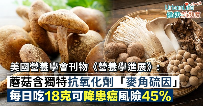 【蘑菇益處】研究:蘑菇含獨特抗氧化劑「麥角硫因」 每日吃18克可降患癌風險45%