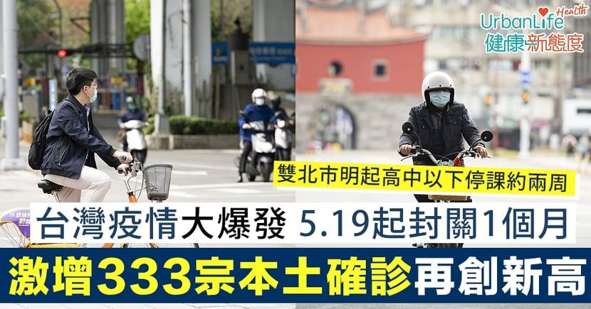 【台灣疫情大爆發】5.19起封關一個月!激增333宗本土確診個案再創單日新高