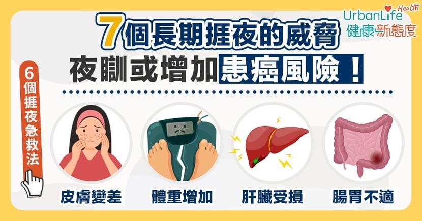 【附捱夜茶推介】夜瞓或令體重上升、增加患癌風險?長期捱夜帶來的7大健康威脅