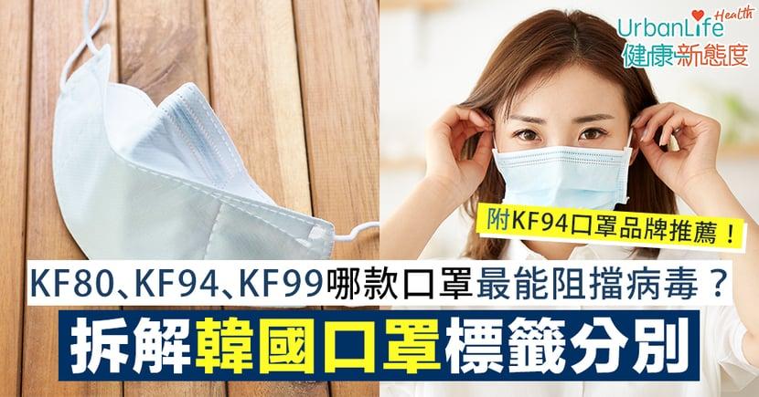 【韓國口罩推薦】哪款口罩最能阻擋傳染性病毒?拆解韓國口罩KF80、KF94、KF99分別