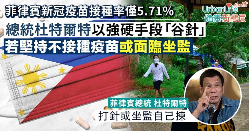 【新冠疫苗接種】菲律賓總統杜特爾特強硬手段「谷針」 警告市民:打針或坐監自己揀