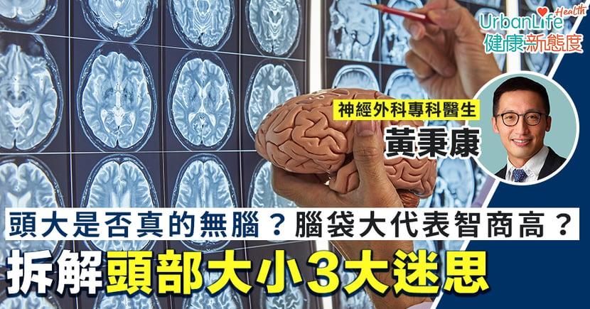 【頭部大小】頭大是否真的無腦?腦袋大就代表智商高?醫生拆解3大迷思