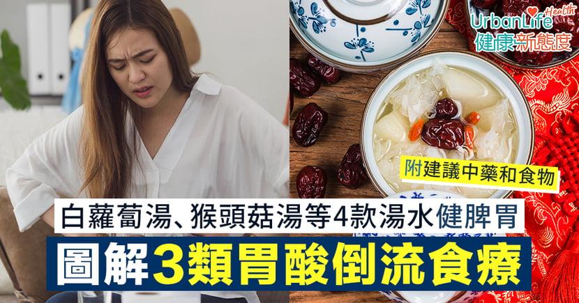 【胃酸倒流食療】圖解3類中醫辯證食療 白蘿蔔湯、猴頭菇湯等4款湯水健脾胃