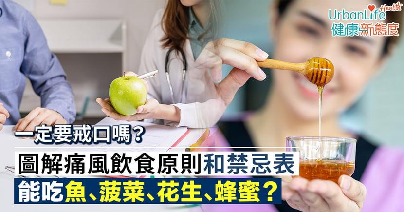 【痛風飲食原則】要戒口嗎?能吃魚、菠菜、花生、蜂蜜?圖解痛風禁忌表