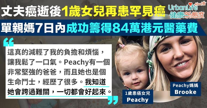 【人間有愛】丈夫癌逝後1歲女兒再患罕見癌 單親媽7日內成功為愛女籌得84萬港元醫藥費