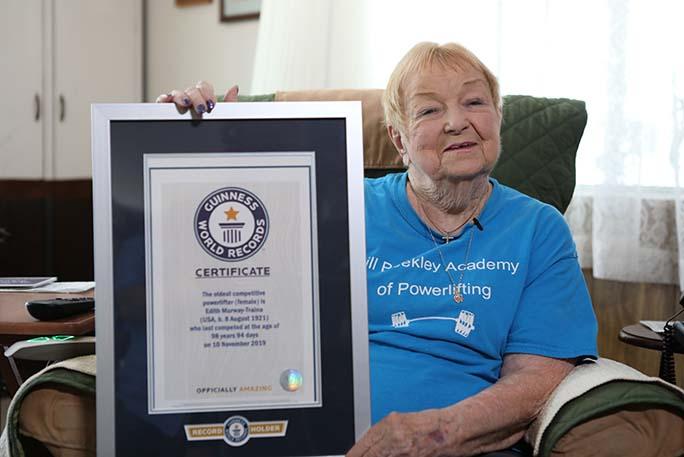 對於Edith Murway-Train打破健力士世界紀錄,其女兒表示為母親感到自豪。